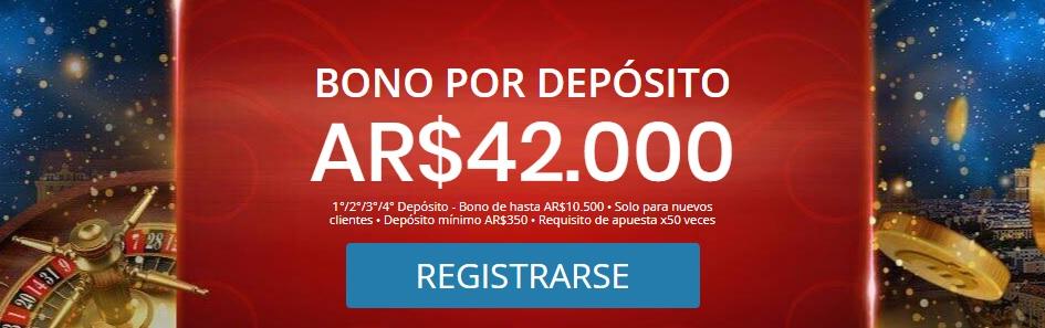 Bonos para los casinos online de Argentina.