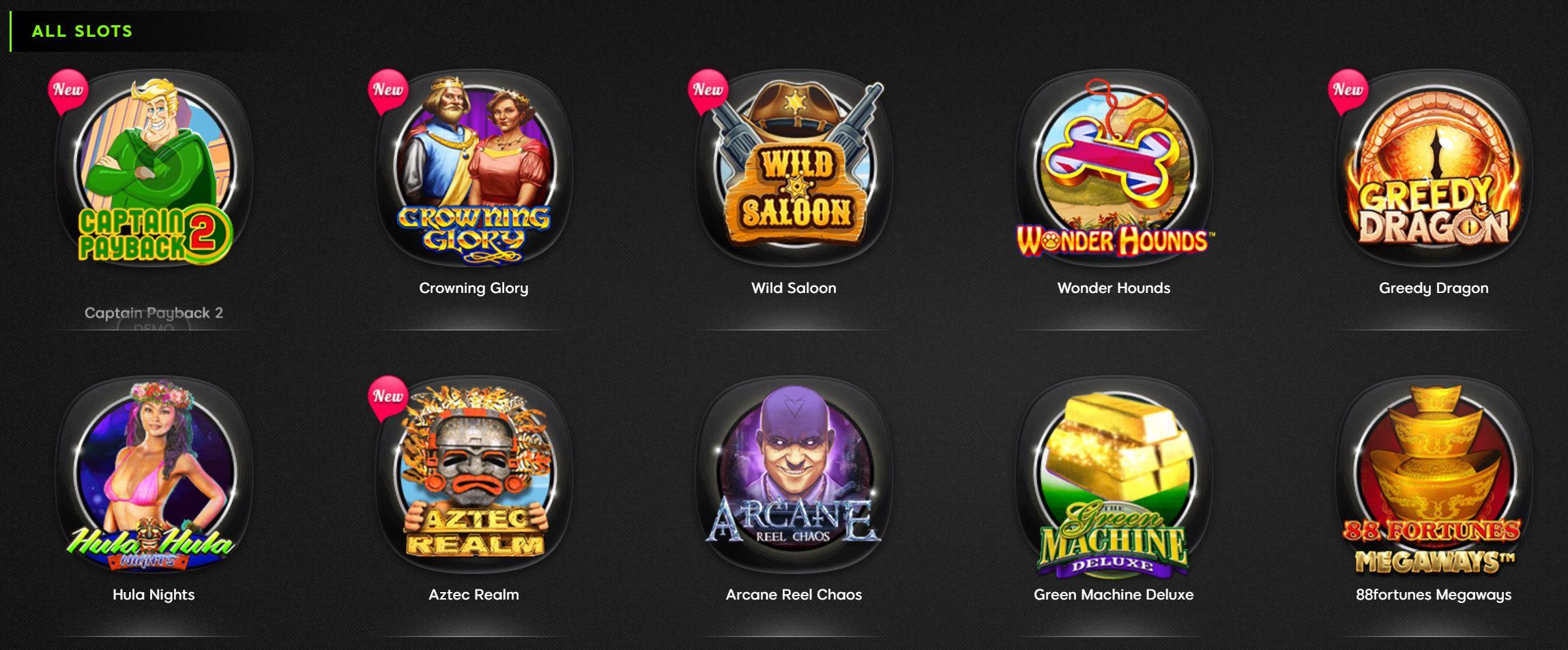 En 888 Casino existe una gran variedad de slots.