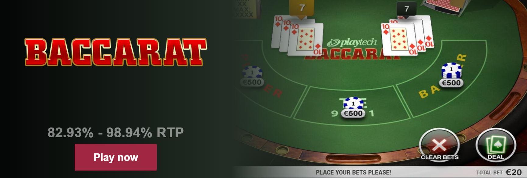 El baccarat es un juego de azar muy popular en los casinos online.