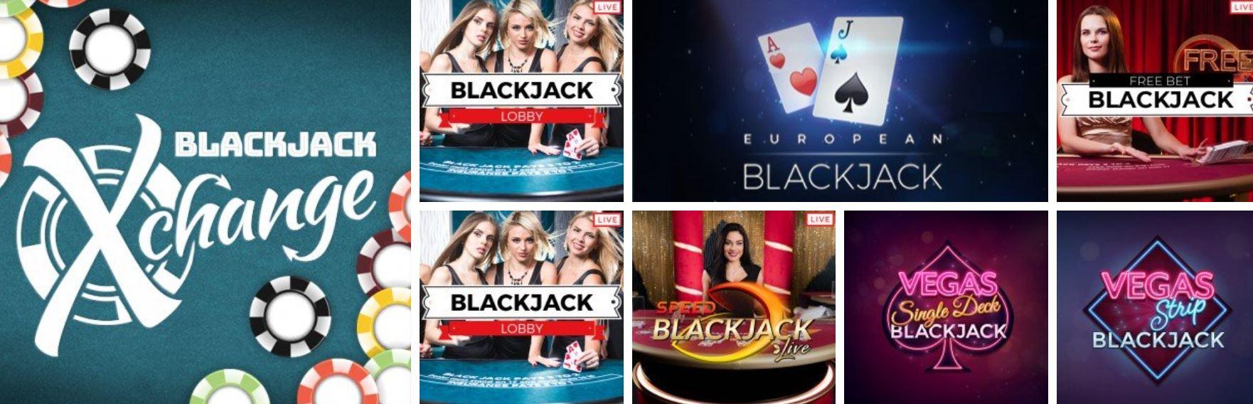 Existen diferentes modos de juegos de blackjack.