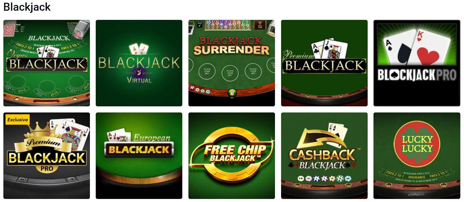 Para jugar a blackjack en caisnos online primero debes registrarte.