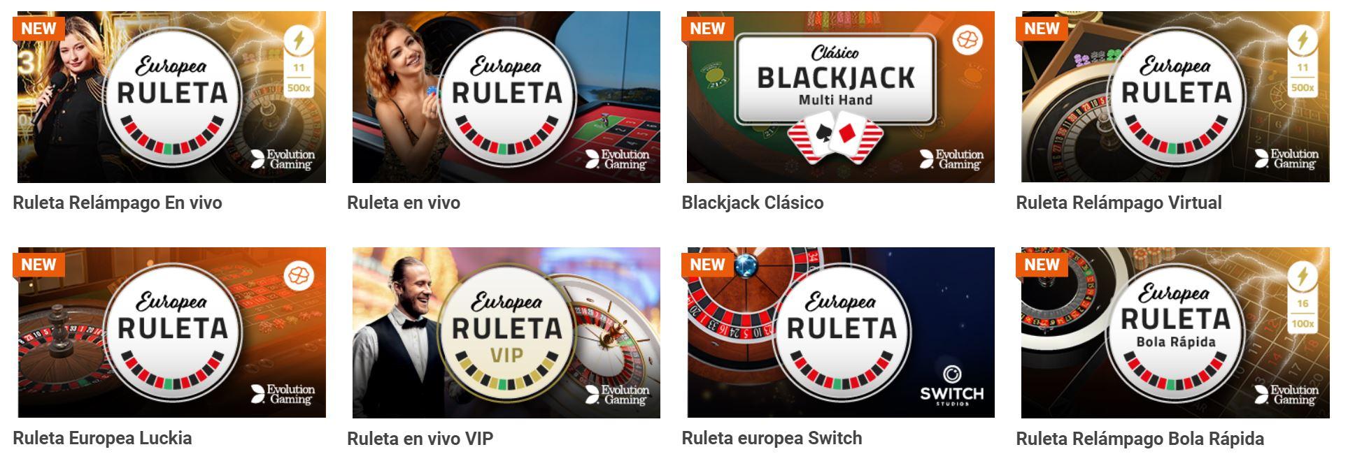 La ruleta y el poker son los juegos estrellas de casino online bolivia.