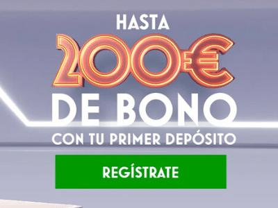 bono cupón de bienvenida del 200% del primer depósito