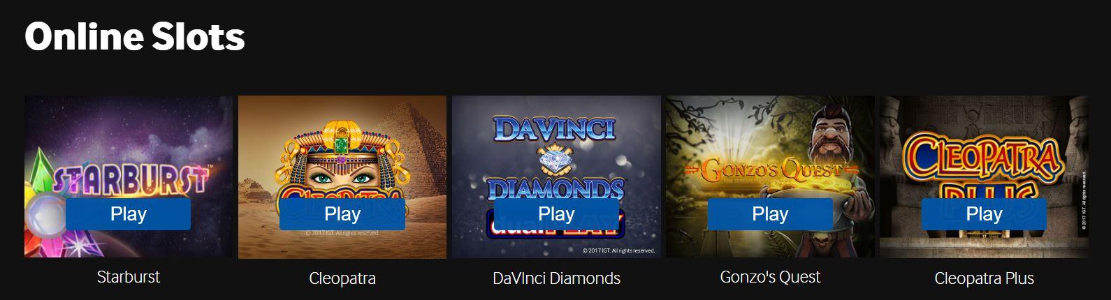 Los casinos online ofrecen gran número de juegos de casnio.