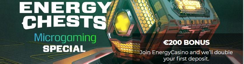 Energy Casino ofrece un bono de bienvenida