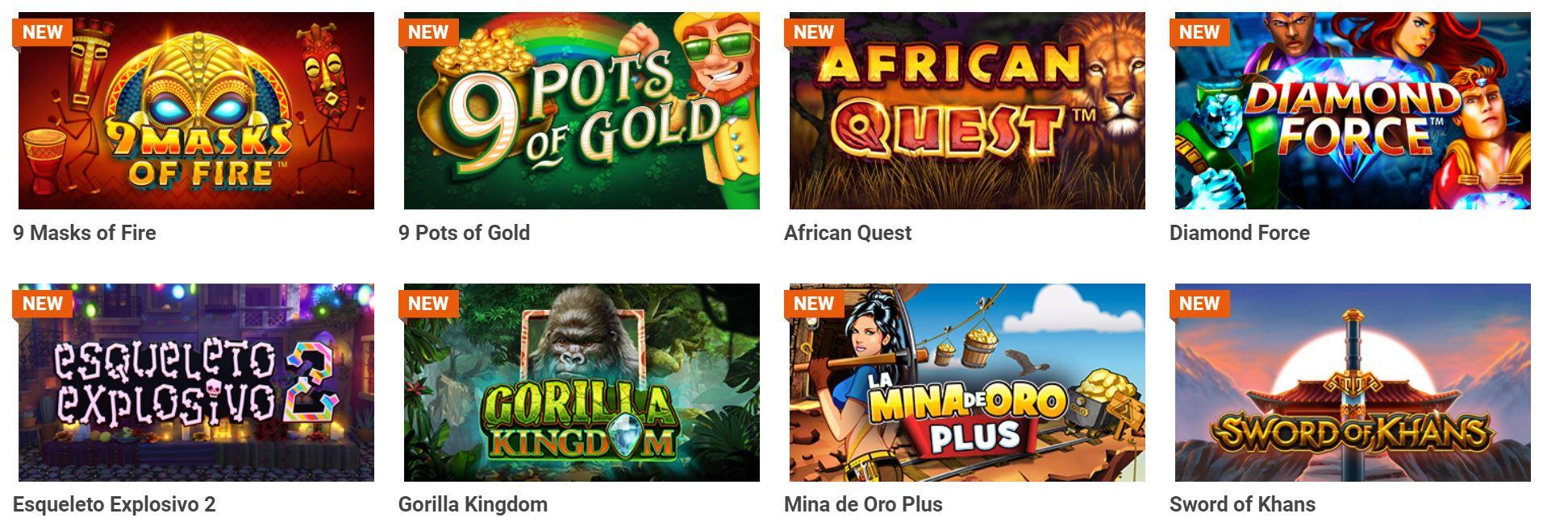 Existe gran variedad de juegos de slots.