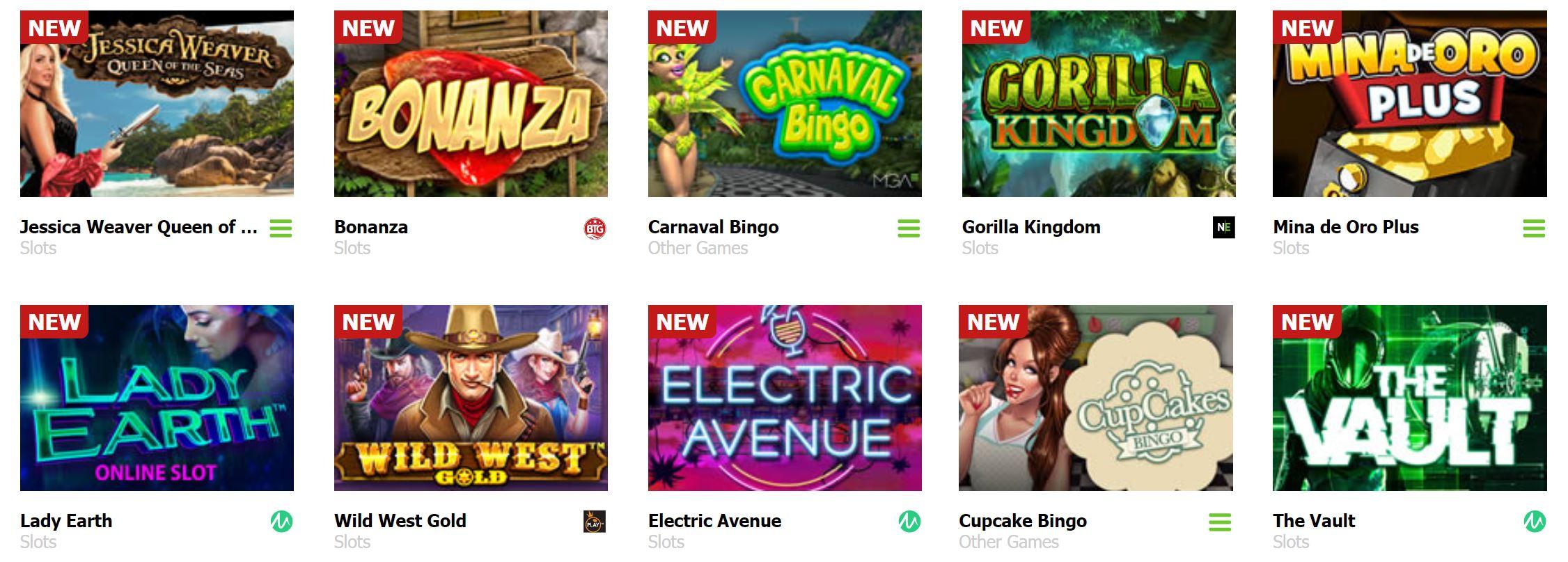 Este casino tiene gran oferta de juegos de azar online.