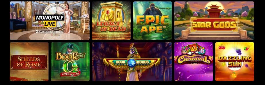 Las opciones de juegos de casino en vivo también son increíbles