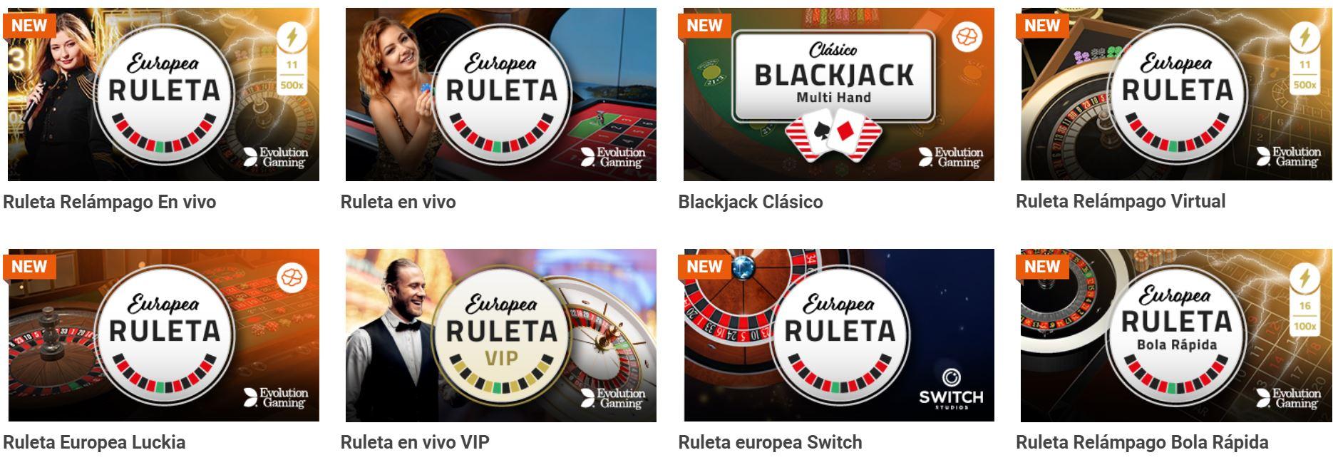 La variedad de juegos de Luckia es muy grande.