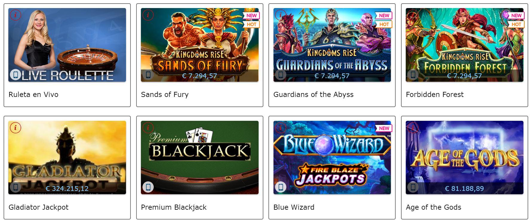 La lista de juegos disponibles en Marca Apuestas es muy amplia.