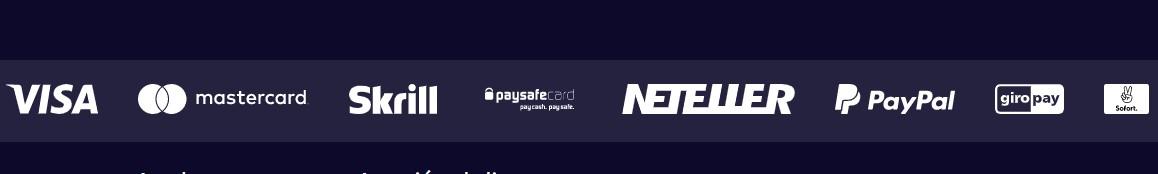 Gametwist acepta los medios de pago más requeridos