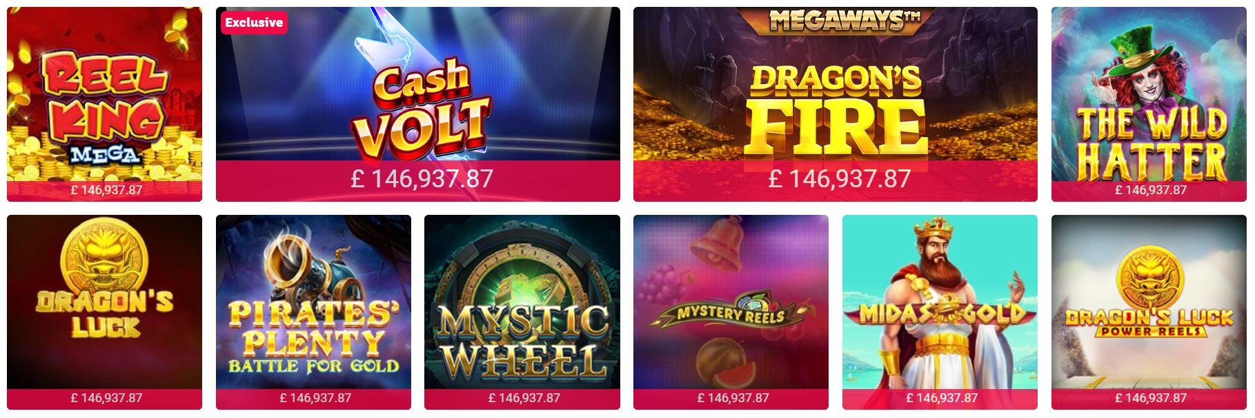 Puedes jugar a blackjack y slots en Party Casino.