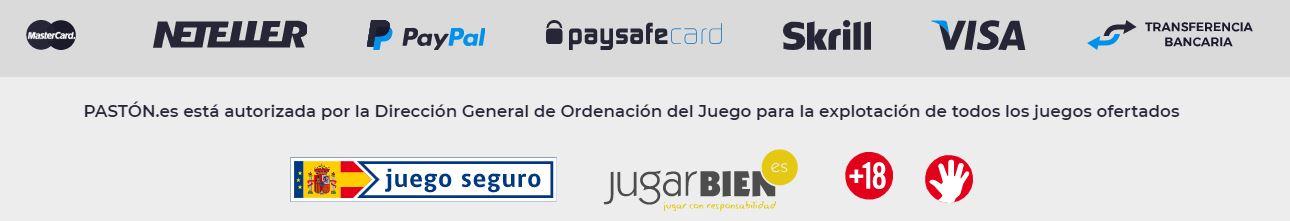 Puedes pagar con paypal en Pastón Casino.