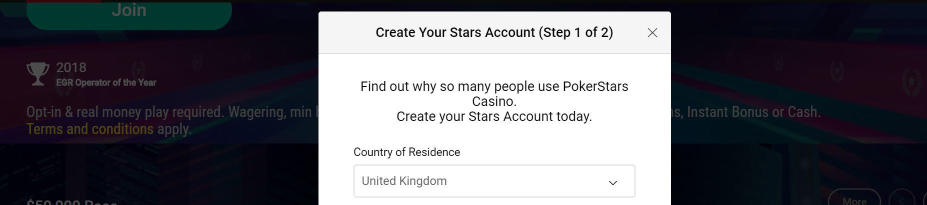 Registrarse en este sitio online de juegos de azar no te llevará más de 2 minutos.