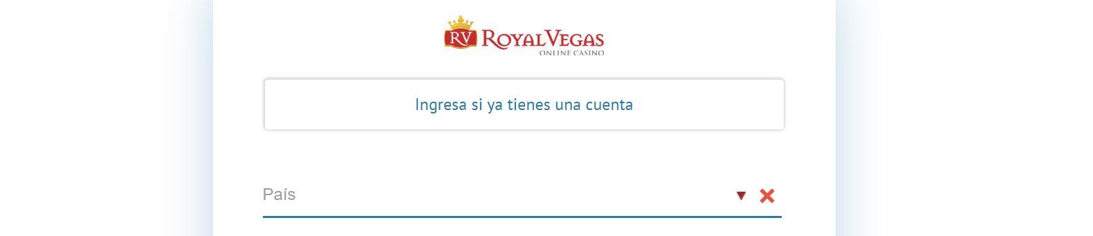 Registrarse en Royal Vegas casino es fácil y rápido.
