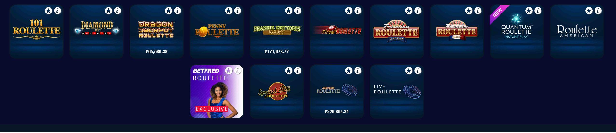 Disfruta de todos los casinos en línea con roulette.