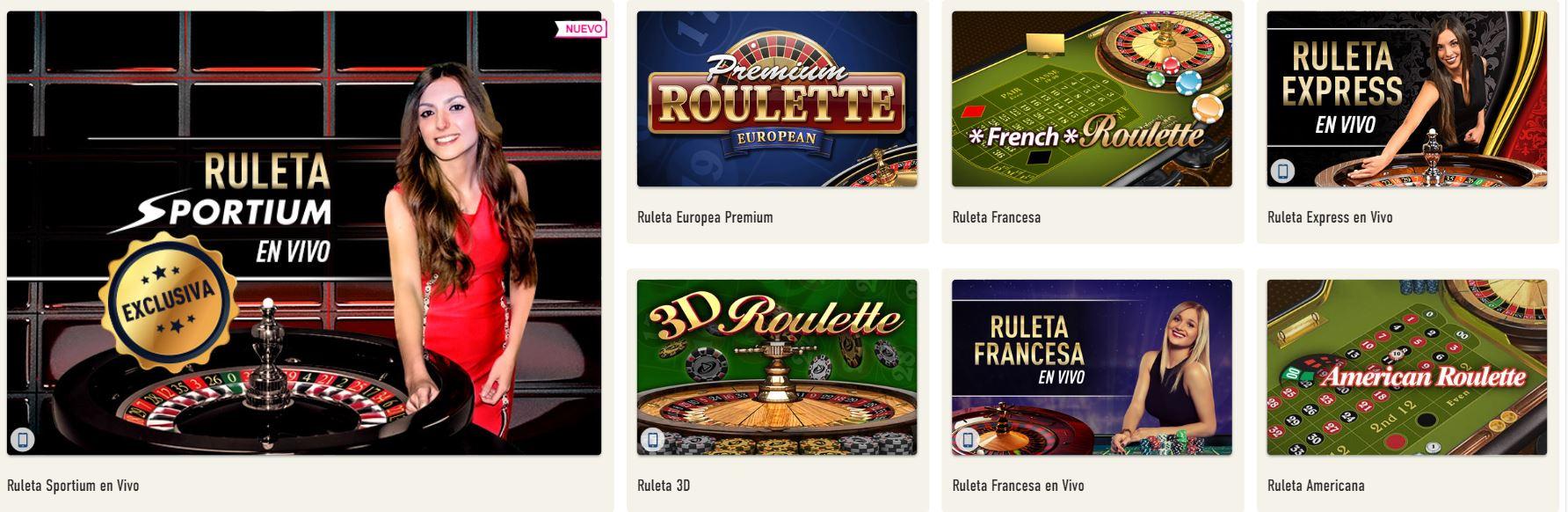 Desde poker hasta ruleta, todos los juegos se encuentran en Sportium.