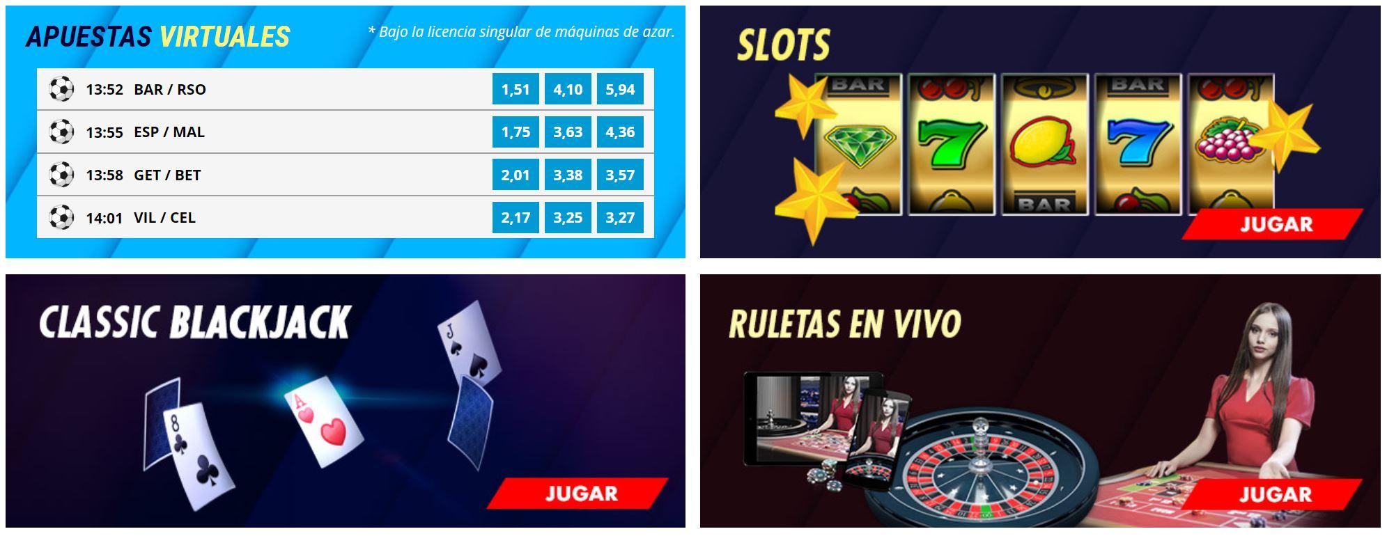 Desde slots hasta poker, todos los juegos están en Suertia.
