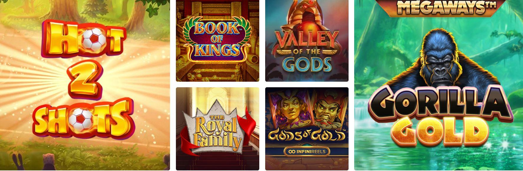 Existe un gran número de juegos de tragaperras online.