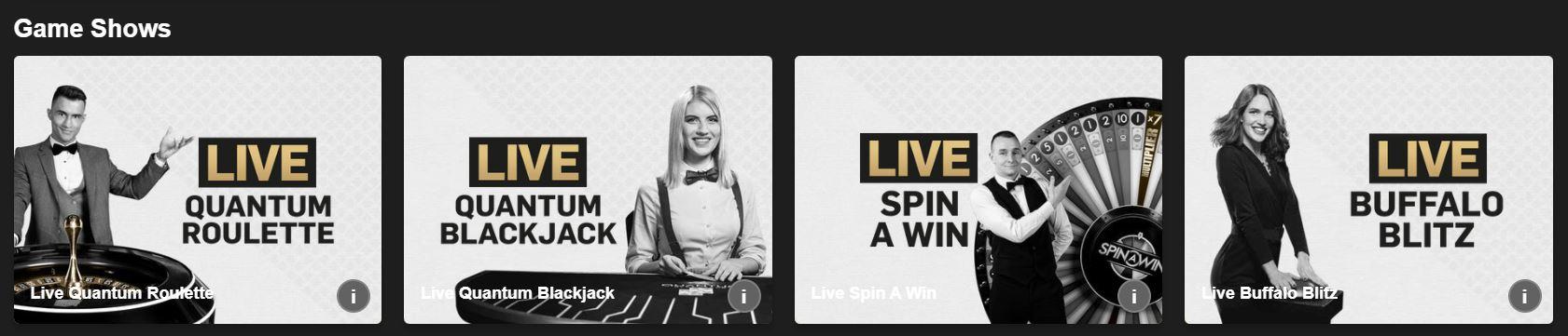 Tienes varios tipos de juegos en los virtual casino.