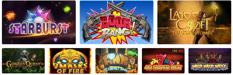 Los slots son muy populares dentro de este casino online.