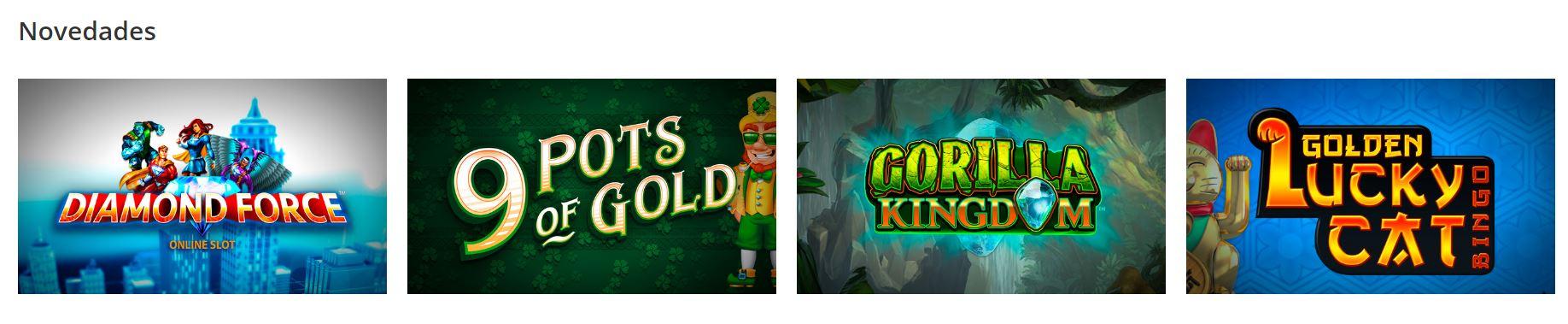 Este casino ofrece slots y otros juegos de casino a sus usuarios.