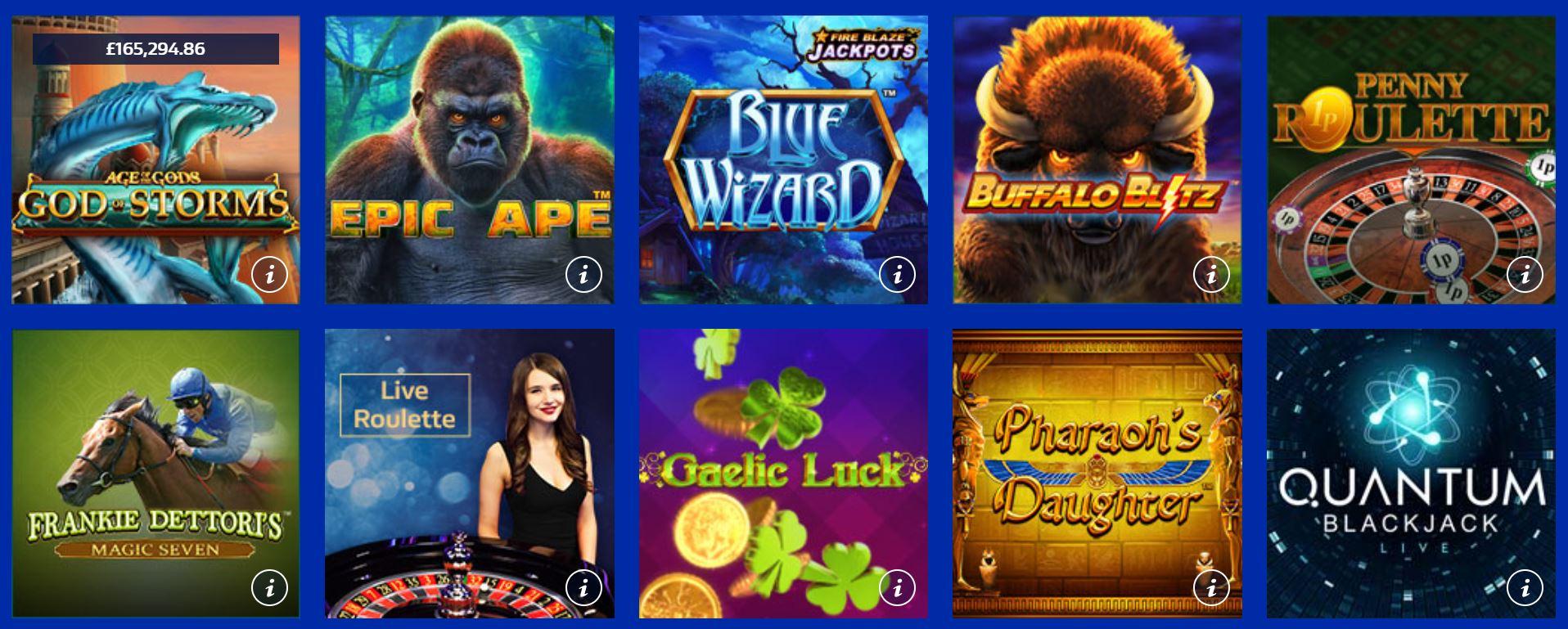 Es posible jugar a juegos de slots en William Hill.