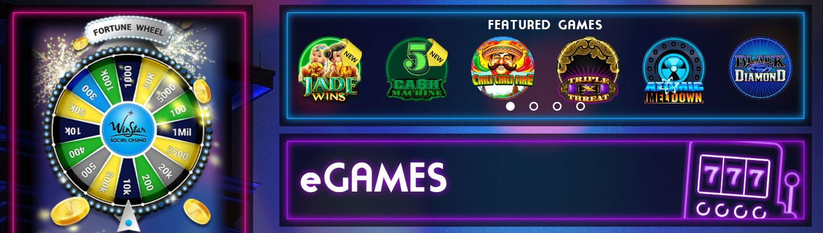 Los e games son una de las especialidades de Winstar.