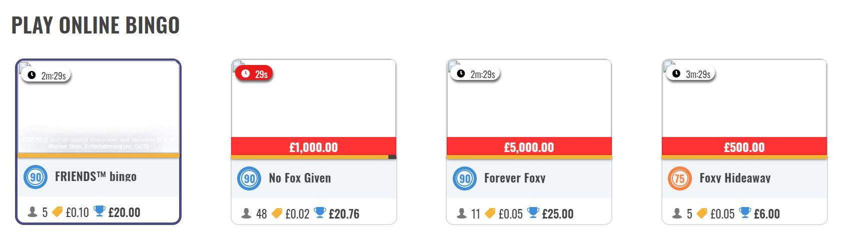 Existen varias salas de juego disponibles en los casinos online.