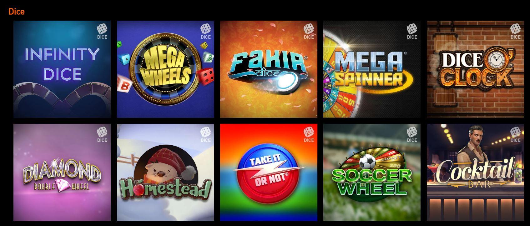 Existen muchos tipos de juegos de dados en los casinos onlnie.