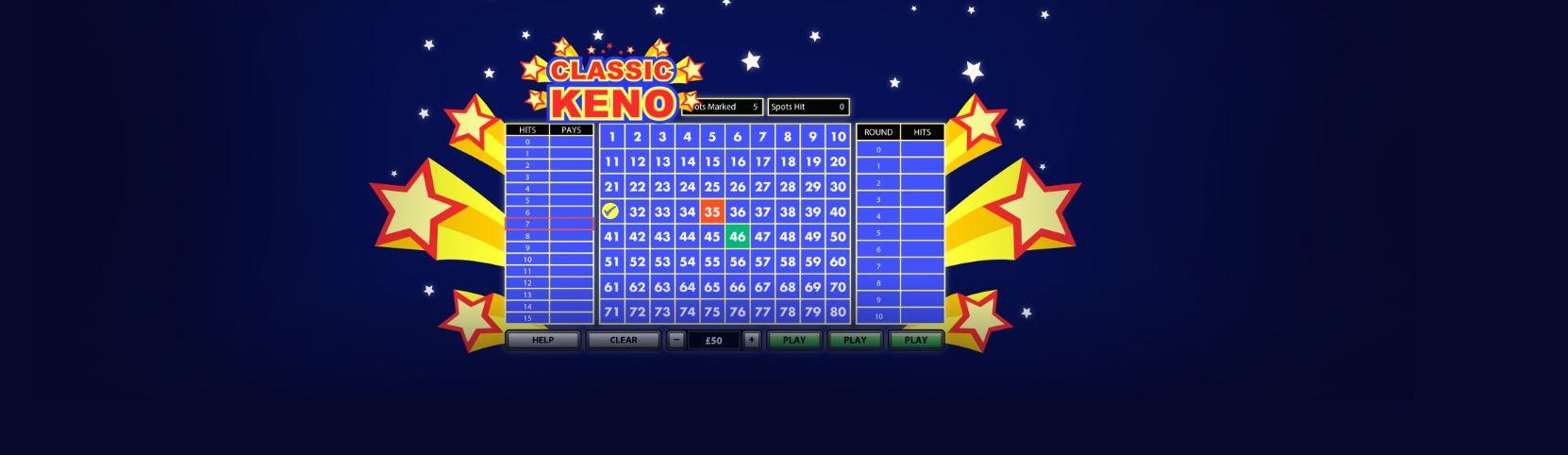 Disfrutar del Keno es posible en casinos online.