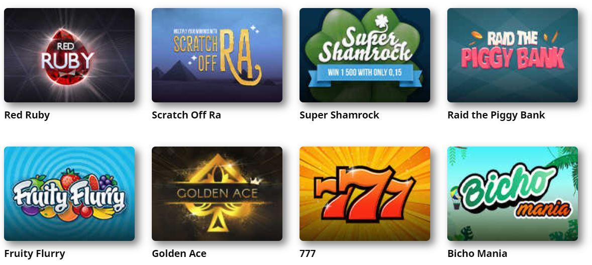 Los casinos ponen a tu disposición gran variedad de juegos de rascar y ganar.