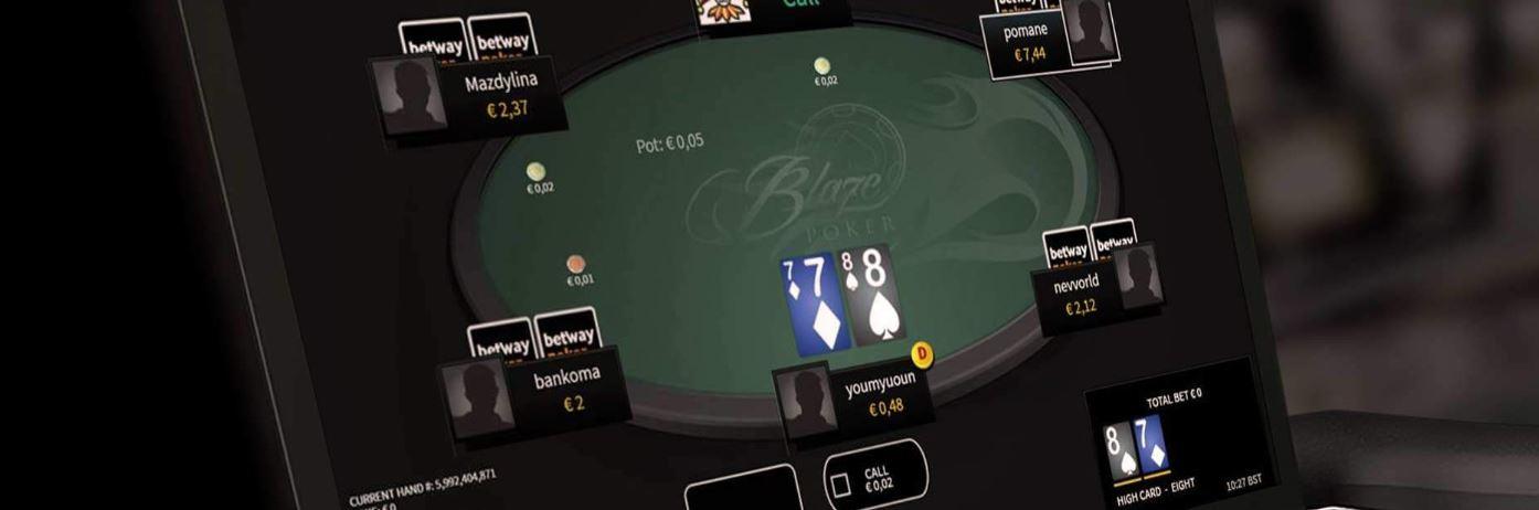 Existen varias salas de texas holdem en los casinos online.