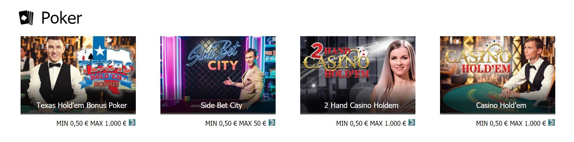 Los casinos tienen diversos juegos todos con temática de poker.